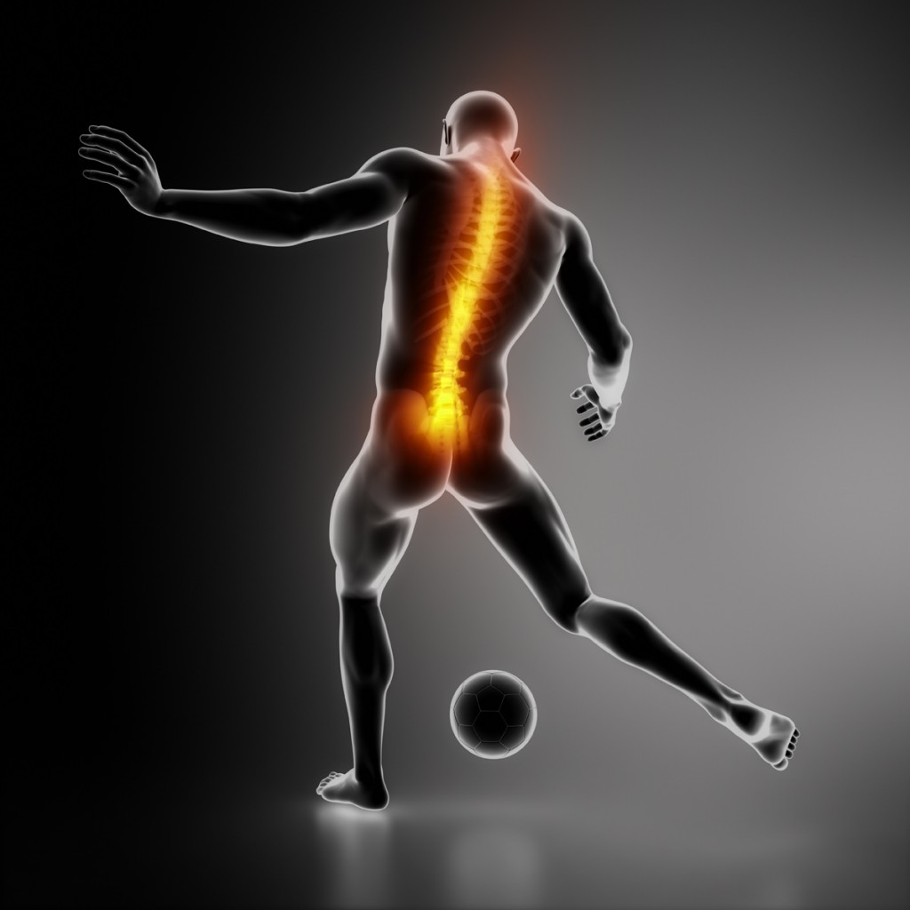 Sportsman backbone injury
